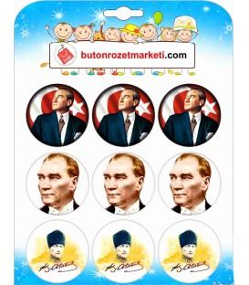 Atatürk  Görselli Karışık Rozetler