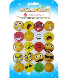 Emoji Karışık Rozetler