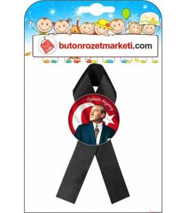 Atatürk Rozetleri Siyah Kurdaleli